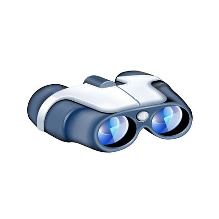 Binoculars icon vector illustration Illustration