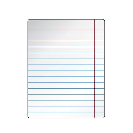 exercise book: Blank worksheet exercise book. Isolated on white background, vector illustration