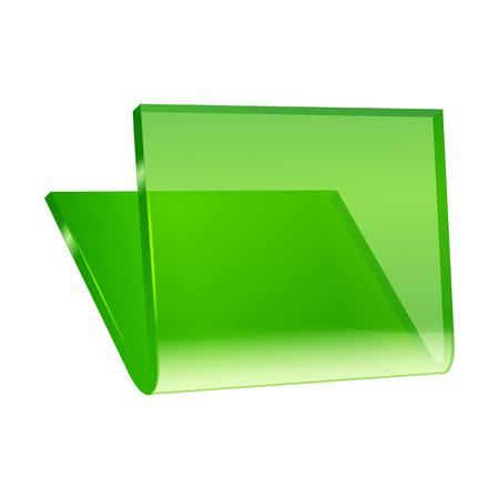 folder icon: Green Folder Icon vector illustration