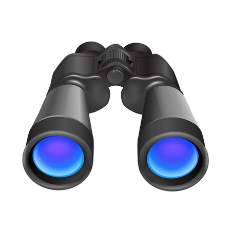 grey: Grey binocular vector illustration
