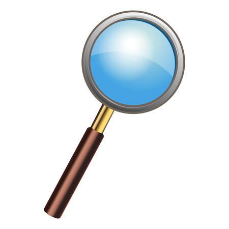 Magnifying glass isolated on white. Photo-realistic vector illustration