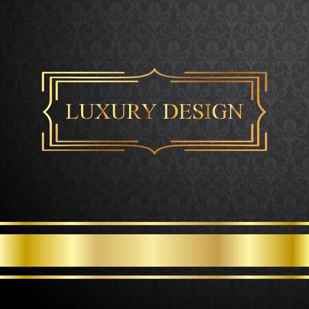 royal background: Royal template with ornate background and golden