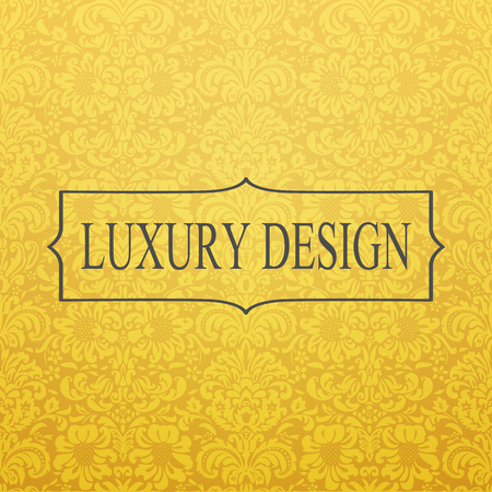 luxury template: Vintage golden luxury background. Template for design