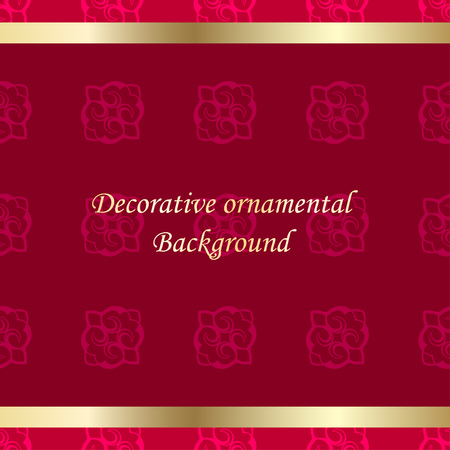 Luxury colored ornamental background. Template for design