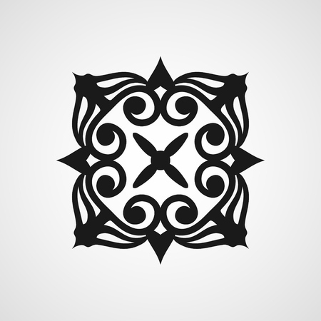 celtic: Ornamental black template design Vector symbol Illustration
