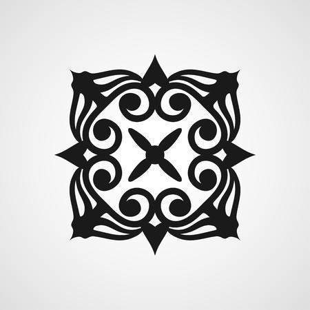 Ornamental black template design Vector symbol Illustration