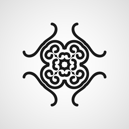 celtic: Ornamental black logo template design. Vector symbol Illustration