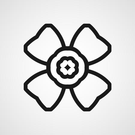Ornamental black logo template design. Vector symbol Illustration