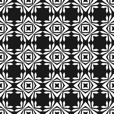 Fond abstrait géométrique. Seamless pattern noir et blanc. Illustration vectorielle pour papier peint, tissu, toile synthétique, textile, papier d'emballage et autre design Vecteurs
