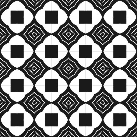 regular: Geometric abstract background. Seamless black and white pattern. Vector illustration for wallpaper, fabric, oilcloth, textile, wrapping paper and other design
