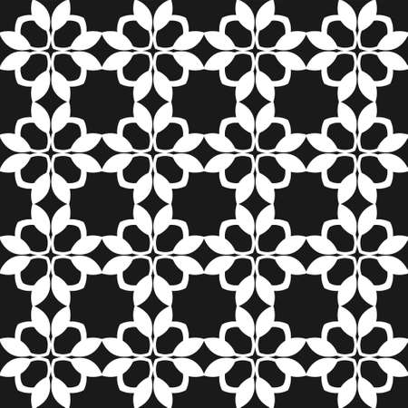 victorian wallpaper: Geometric abstract background. Seamless black and white pattern. Vector illustration for wallpaper, fabric, oilcloth, textile, wrapping paper and other design