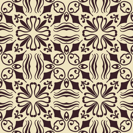 gentle: Abstract ornamental floral seamless pattern. Template can be used for fabric, textile, cloth, wrapping paper, oilcloth, and other design