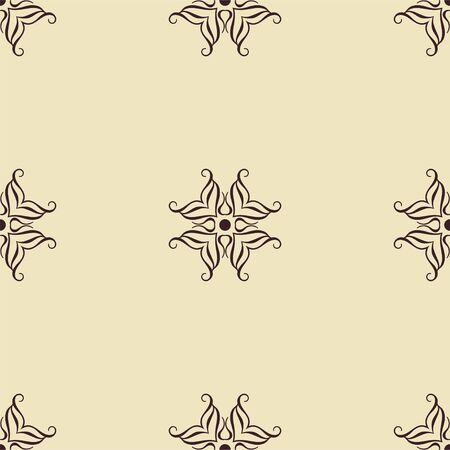 victorian wallpaper: Abstract ornamental floral seamless pattern. Template can be used for fabric, textile, cloth, wrapping paper, oilcloth, and other design