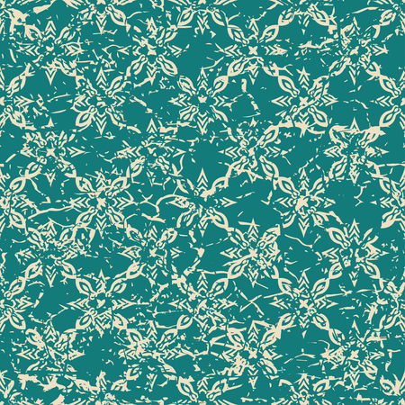 grained: Vintage ornamental seamless textured pattern with grunge scratched effect . Element for design.