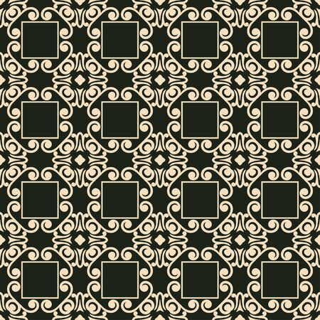 old fashioned: Vintage ornamental seamless pattern. Can be used for wrapping paper, wallpaper, fabric, textile, oilcloth, tiling and other design. Illustration