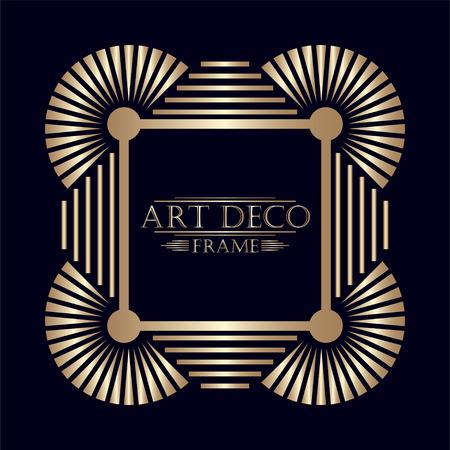 アールデコ観賞ヴィンテージフレーム。デザインのテンプレートです。ベクトルイラスト eps10