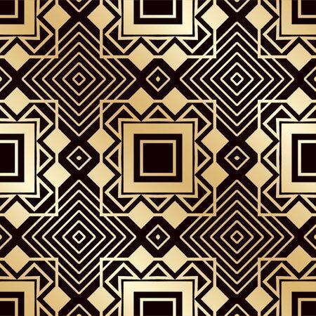 Art deco vintage seamless pattern. Template for design. Vector illustration