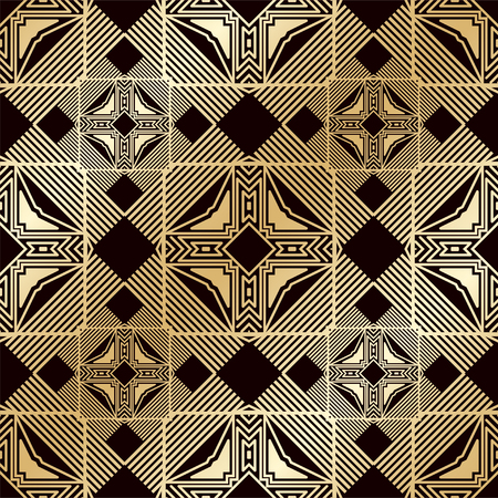 Art deco vintage seamless pattern. Template for design. Vector illustration
