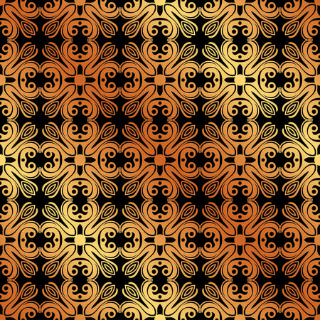 Abstract geometric golden seamless pattern. Vector illustration