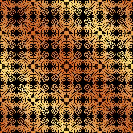 Abstract geometric golden seamless pattern. Vector illustration