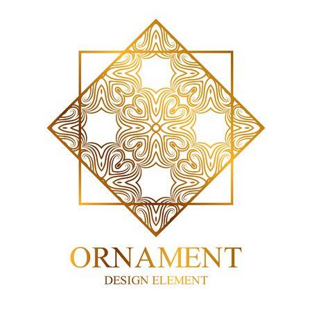 Geometric ornamental logo for design and decoration. Vector illustration