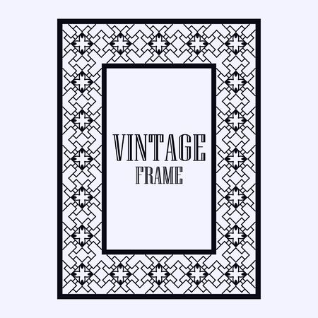 Vintage Ornamental Decorative Label Frame With Ornate Border ...
