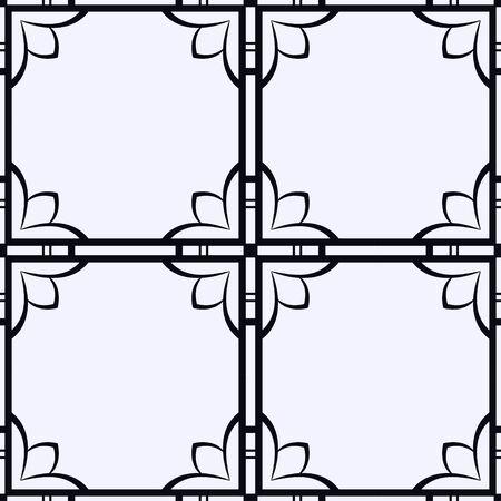 Vintage ornamental seamless pattern. Art deco ornament. Template for design Illustration