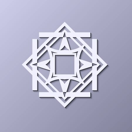 Vintage ornamental icon in art decor style. Template for design of icon.
