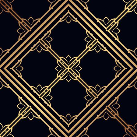 Vintage ornamental seamless pattern. Art deco ornament. Template for design Stock Illustratie