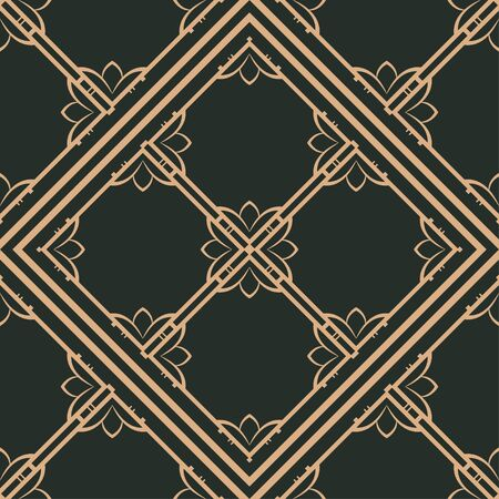 Vintage ornamental seamless pattern. Art deco ornament.