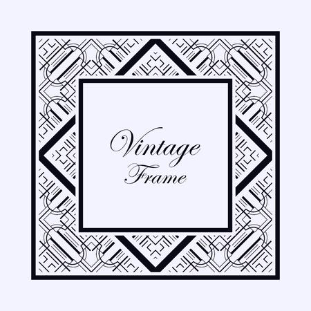 vintage ornamental decorative label frame with ornate border