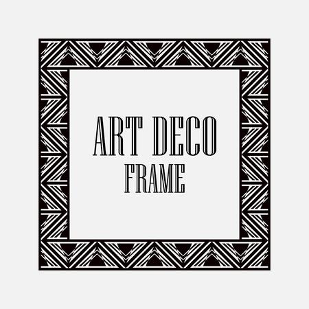 Art Deco Vintage Border Frame Vector Design Template Illustration ...