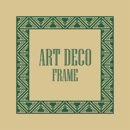 Vintage Art deco ornamental frame. Template for design Ilustrace