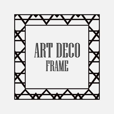 Art deco vintage border frame vector design template illustration Vectores