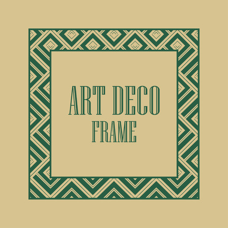 Vintage Art deco ornamental frame. Template for design Иллюстрация