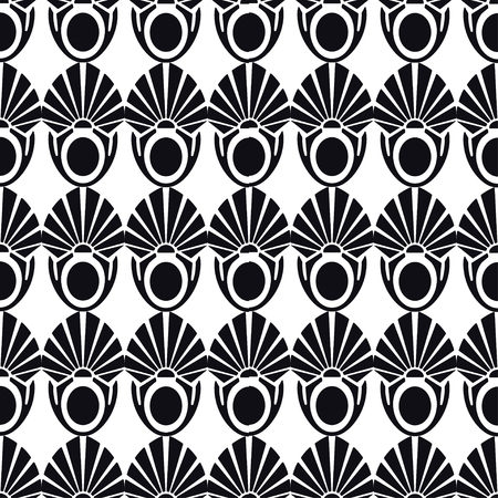 Vintage Art Deco Seamless Pattern. Geometric decorative texture