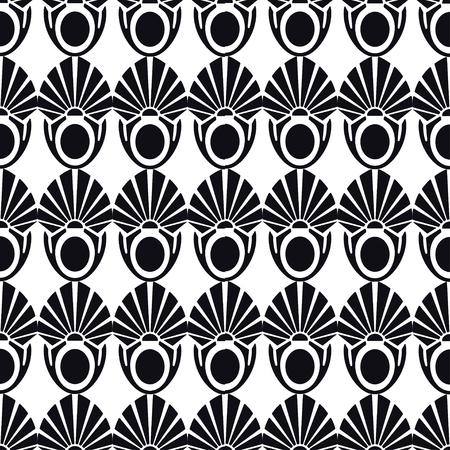 Vintage Art Deco Seamless Pattern. Geometric decorative texture