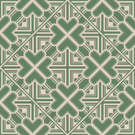 Art Deco Pattern. Seamless background. Geometric design. 1920-30s motifs. Luxury vintage illustration