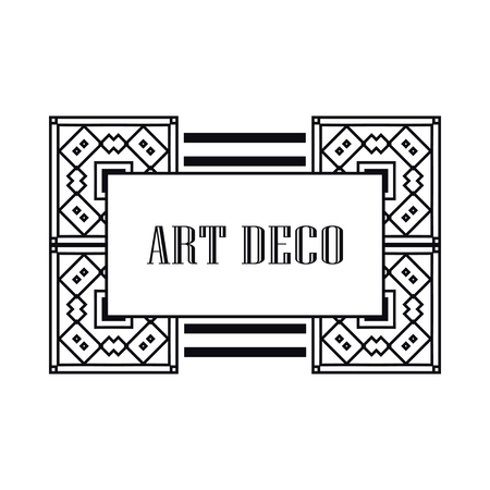 Retro art deco invitation. Border and frame for design