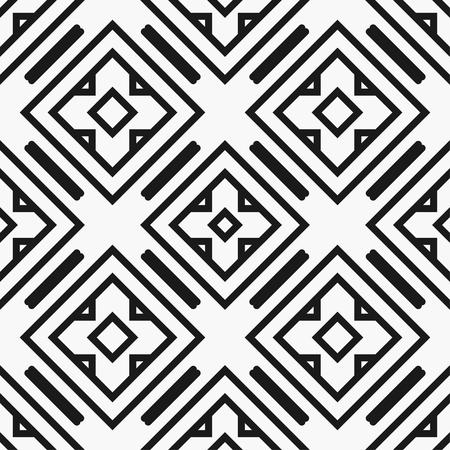 Art deco black and white texture. Seamless geometric pattern Vektorové ilustrace