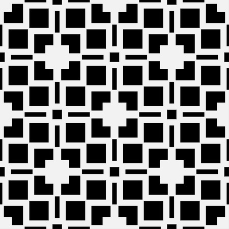 Art deco black and white texture. Seamless geometric pattern