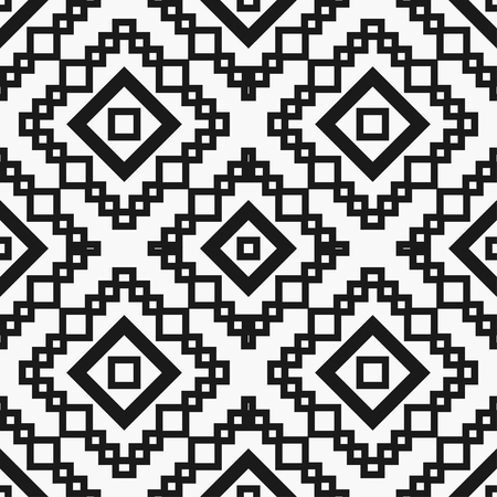 Art deco black and white texture. Seamless geometric pattern