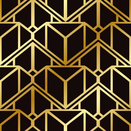 Retro seamless art deco vintage pattern. Geometric ornamental vintage texture for wrapping paper, wallpapers, tiling, flooring, fabric, textile and other designs.