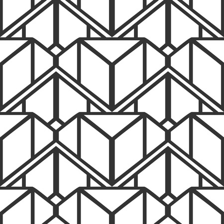 Fondo y textura inconsútiles retros del art déco ornamental del vintage. La ilustración vectorial se puede utilizar para envolver papel, papeles pintados, baldosas, suelos, telas, textiles y otros diseños.