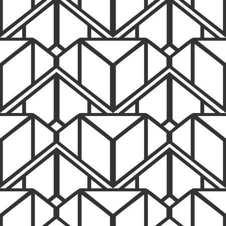 Vintage ornamentale art deco retrò sfondo e texture senza soluzione di continuità. L'illustrazione vettoriale può essere utilizzata per avvolgere carta, carte da parati, piastrelle, pavimenti, tessuti, tessuti e altri disegni.