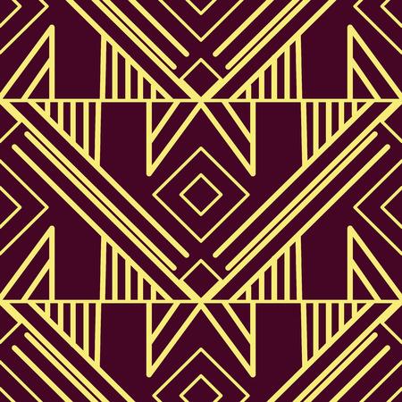 Patrón de azulejos modernos de vector. Fondo de lujo transparente art deco abstracto Ilustración de vector