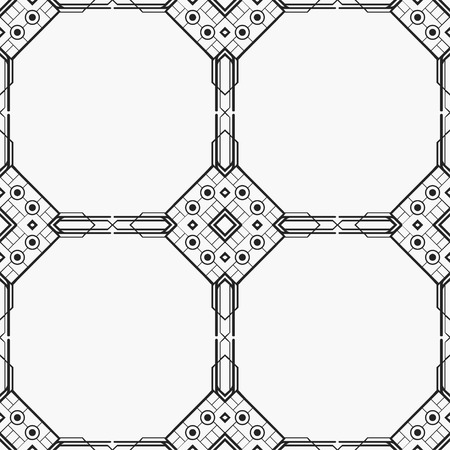 Vector modern tiles pattern and wallpaper. Abstract art deco seamless monochrome background. Vintage element for retro design