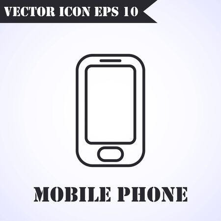 Phone icon vector. Call icon vector. Mobile phone smartphone device gadget. Telephone icon Illustration