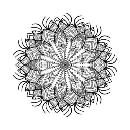 Mandala. Ethnic decorative elements. Hand drawn background. Islam, Arabic, Indian ottoman motifs Vector illustration