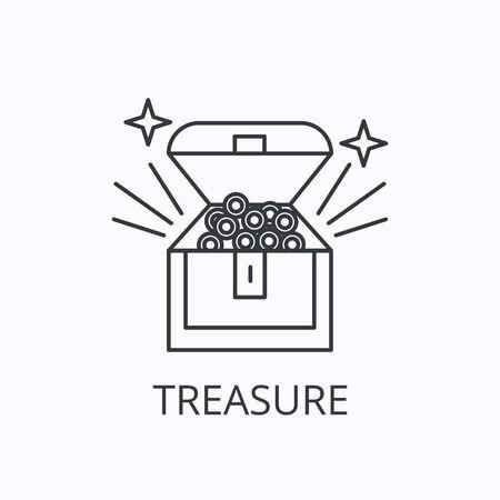 Treasure thin line icon. Wealth concept. Outline vector illustration